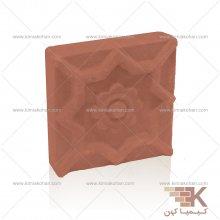 آجر قزاقی مجلسی گلدار (قرمز) 20x20cm