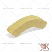 آجر قزاقی دور ستون بزرگ (زرد) 30x6cm