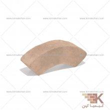 آجر قزاقی دور ستون کوچک (خاکی) 25x5cm