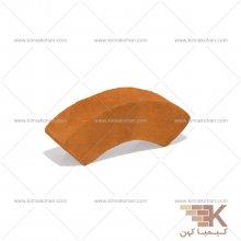 آجر قزاقی دور ستون کوچک (نارنجی) 22x4.5cm